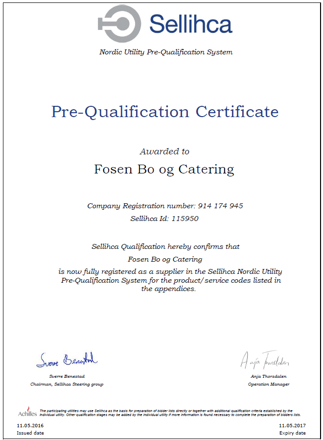 Sellihca Fosen Bo & Catering AS